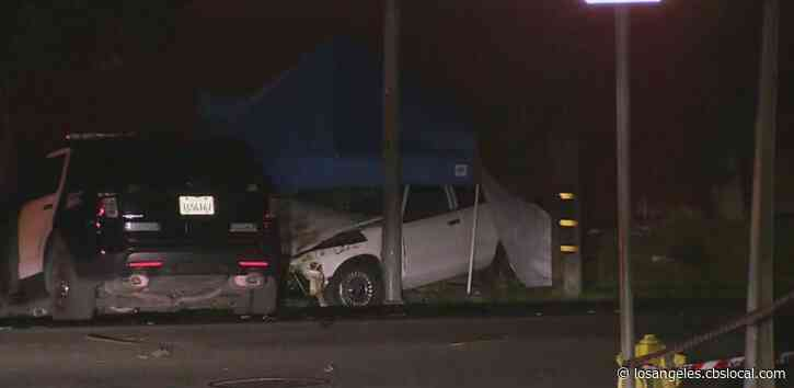 Driver Shears Utility Pole In Violent South LA Wreck, Leaves Hundreds Without Power