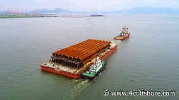 EOS and HHC complete foundation transportation for Taipower project - 4C Offshore