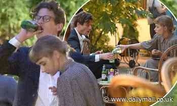 James Norton relaxes with his girlfriend Imogen Poots as they enjoy drinks in Venice - Daily Mail