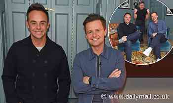 Ant McPartlin, Declan Donnelly and Dermot O'Leary pose at book event