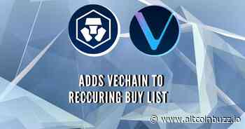 Crypto.com Adds VeChain (VET) to Recurring Buy - Product Release & Updates - Altcoin Buzz