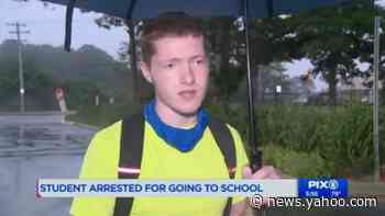 Student arrested after repeatedly going to high school on online days, NY school says