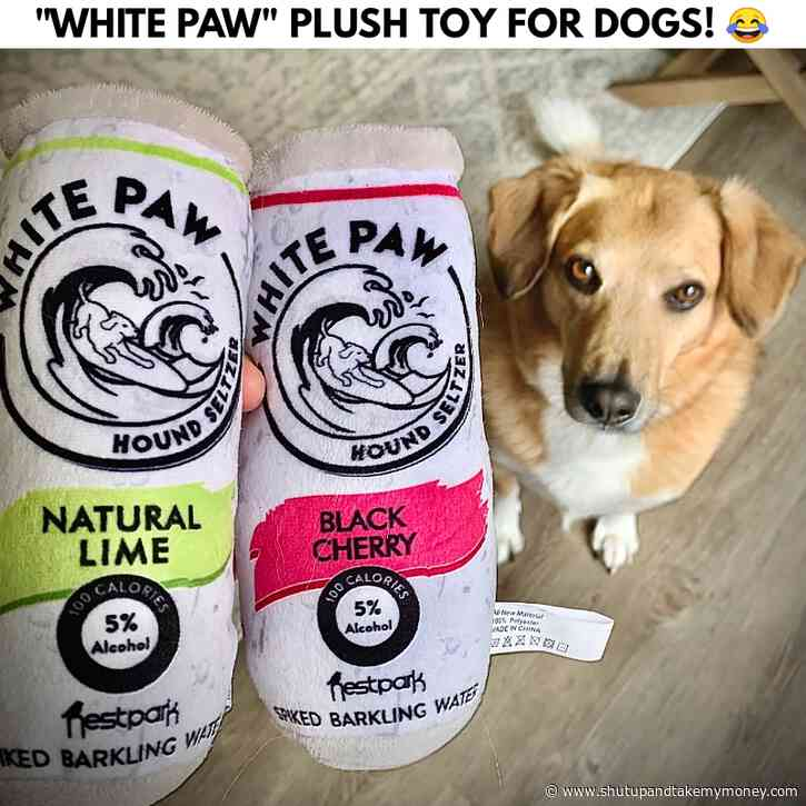 White Paw Plush Toy For Dogs