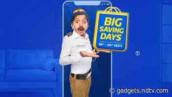 Flipkart Big Saving Days Kicks Off From September 18, Lets You Pre-Book Items at Re. 1