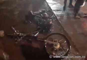 Quemaron motocicleta de presunto ladrón en Neiva • La Nación - La Nación.com.co