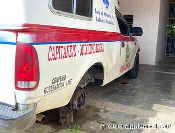 Denuncian abandono de la ambulancia de Capitanejo y exigen su recuperación - El Universal (Venezuela)