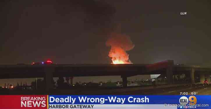 2 Killed In Fiery Wrong Way Crash In Harbor Gateway