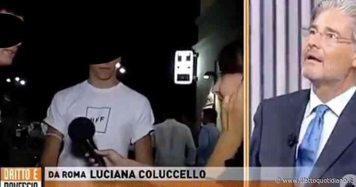 """L'inviata di Dritto e Rovescio Luciana Coluccello """"blastata"""" da un ragazzo per via della mascherina"""