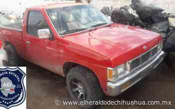 Aseguran pick up robada en la ciudad de Delicias - El Heraldo de Chihuahua