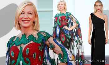 Cate Blanchett looks effortlessly chic as she is joined by Vanessa Kirby at the Venice Film Festival