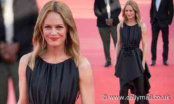 Vanessa Paradis steals the spotlight in a black trouser dress at Deauville American Film Festival