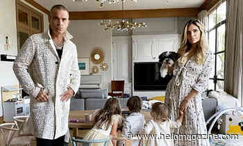 Ayda Field twins with son Charlie in dreamy floaty dress for adorable date night
