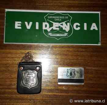 Los Ángeles: Carabineros detiene a ex gendarme por usurpación de funciones - Diario La Tribuna