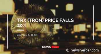 TRX (TRON) Price Falls 20% As Price Rally To $0.049 - News Herder