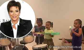 Kris Jenner shares a video of the KarJenner baby clan rocking out on instruments