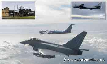 RAF Typhoons intercept two Russian bombers off the Scottish Coast