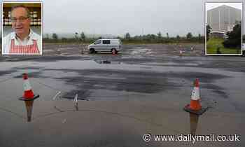 The deserted DVLA car park in Swansea - and the small firms nearby that have been ruined