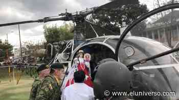 Virgen de El Cisne sobrevoló Cuenca y los cantones de Azogues, Paute y Gualaceo | Videos - El Universo