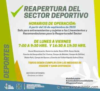 Abrirán en Isla Mujeres 10 espacios deportivos - Cancún Mio