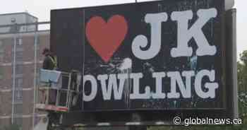 Vancouver billboard declaring 'I ❤ J.K. Rowling' defaced, removed
