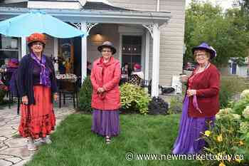 Local Red Hatters bring splash of colour to Schomberg (13 photos) - NewmarketToday.ca