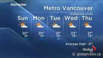 B.C. evening weather forecast: September 12