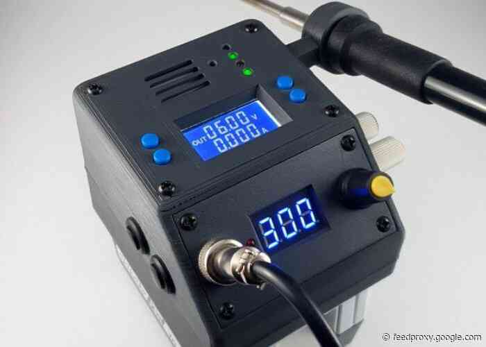 3D printed mobile soldering station and power supply