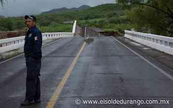 Por segunda ocasión caen los puentes de San Antonio y Buenavista, en Rodeo - El Sol de Durango
