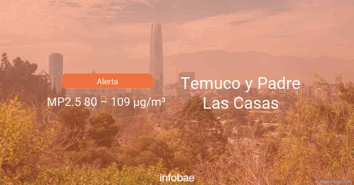 Calidad del aire en Temuco y Padre Las Casas de hoy 13 de septiembre de 2020 - Condición del aire ICAP - infobae