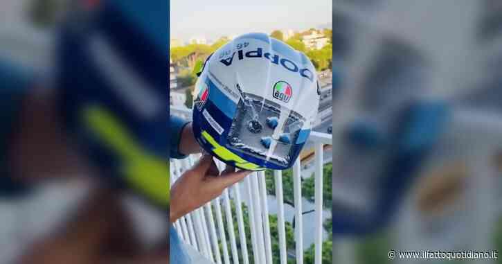 """MotoGp, il casco """"con il Viagra"""" di Valentino Rossi: ecco come è fatto – Video"""