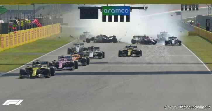 F1, al Mugello bandiera rossa e gara interrotta: mega incidente in rettilineo dopo la safety car