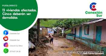Fuertes lluvias prendieron las alarmas en Pueblorrico - ConexionSur