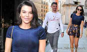 Faye Brookes puts on a leggy display as she enjoys an outing with her brother Jack