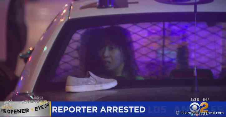 Reporter Arrested As Anti-Police Protest Unfolds Outside Hospital Where Wounded Deputies Were Taken
