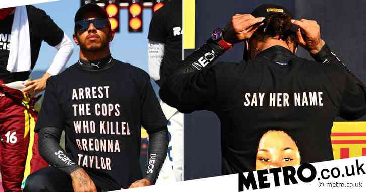 Lewis Hamilton wears Breonna Taylor t-shirt as he calls for justice at Formula One race