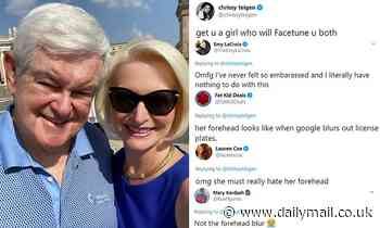 Newt Gingrich's wife is mocked for poorly edited photo