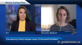 Fire destroys Moria refugee camp; 13 thousand homeless