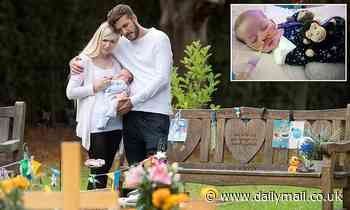 Charlie Gard's parent's take their newborn baby Oliver to his late brother's graveside