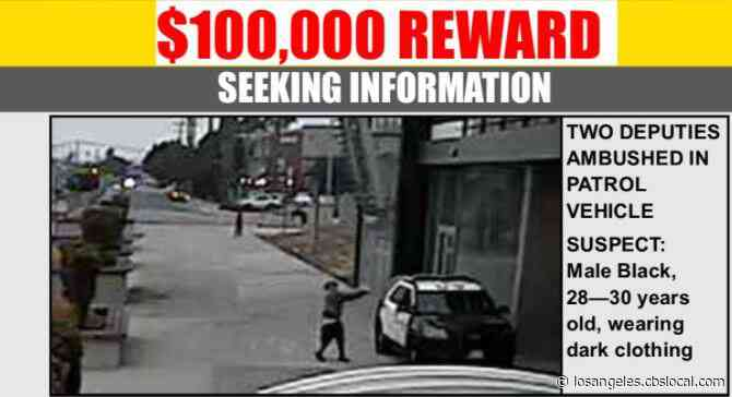 $100K Reward Offered In Search For Lone Gunman In Shooting That Left 2 Deputies Critically Wounded