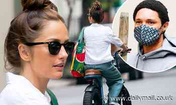 Minka Kelly gets in some fresh air as she enjoys solo bike ride in the Big Apple