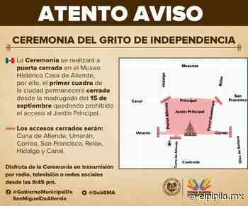 Cierra San Miguel de Allende su Centro Histórico desde el día 15 - elpipila.mx