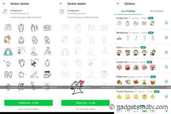 WhatsApp New Animated Sticker Pack Spotted in Latest Beta, Wallpaper Dimming Feature Tipped