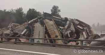 Massive train derailment near Hope, B.C.