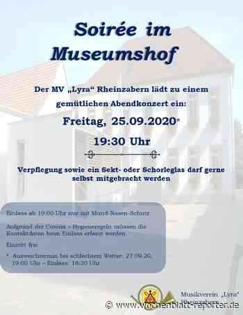 Musikverein Lyra Rheinzabern: Soirée im Museumshof - Wochenblatt-Reporter