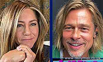 Jennifer Aniston and Brad Pitt reunited! Pictured for Fast Times At Ridgemont High live table read