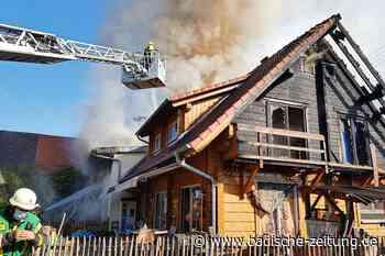 Doppelhaus in Schutterwald-Langhurst durch Feuer komplett zerstört - Offenburg - Badische Zeitung