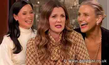 Drew Barrymore and Charlies Angels co-stars Cameron Diaz and Lucy Liu reunite on her new talk show