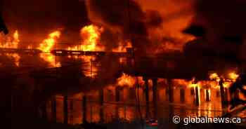 Mayor vows to rebuild after epic fire tears into New Westminster's Pier Park