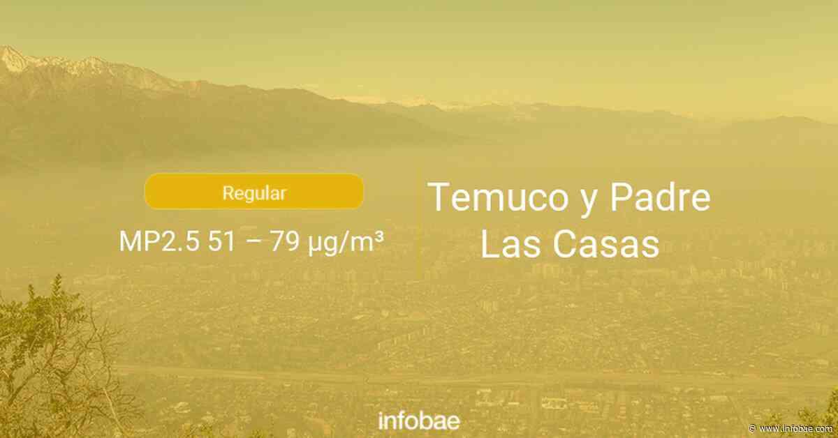 Calidad del aire en Temuco y Padre Las Casas de hoy 14 de septiembre de 2020 - Condición del aire ICAP - infobae