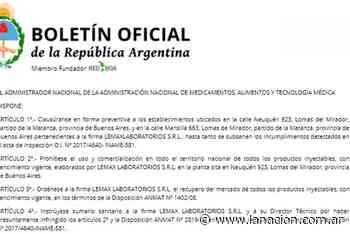 """La Anmat clausuró un laboratorio en Lomas del Mirador y prohibió """"todos los productos inyectables"""" de la firma - LA NACION (Argentina)"""